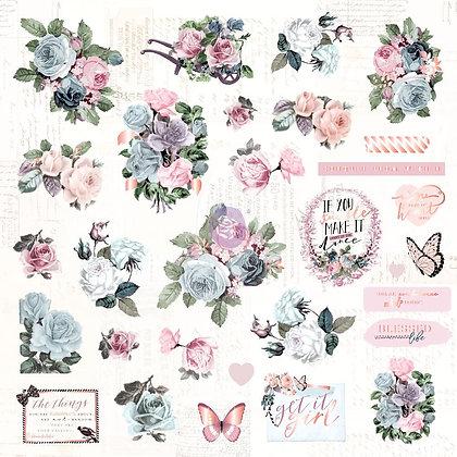 Recortables - Ephemera and stickers - Poetic Rose