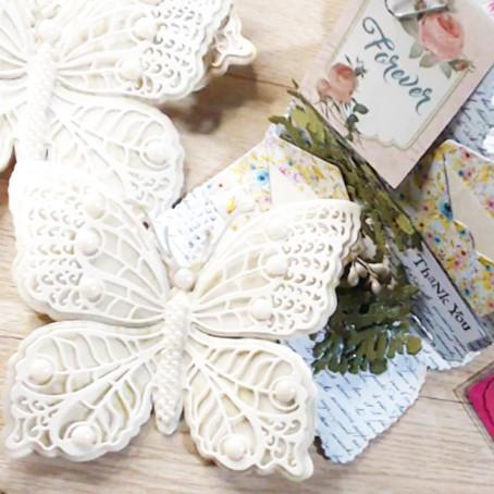 Tutorial: Mariposa en troquel con decoración de perlas