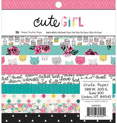 Cute girl - Block 6 x 6