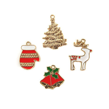 Enamel Charms - Dijes de Navidad