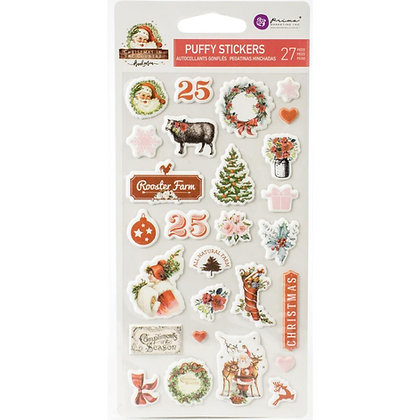 Christmas in the country - Puffy stickers