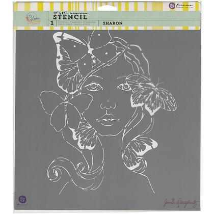 Stencil Free spirit - 12 x 12