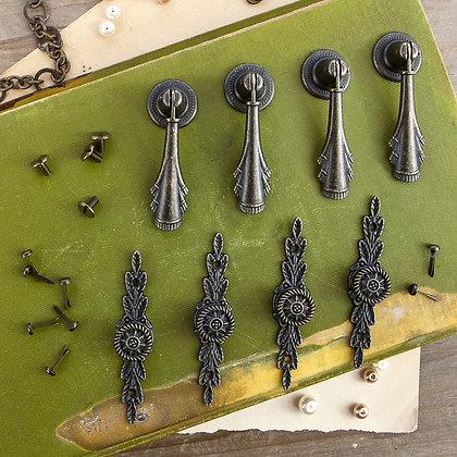 Memory hardware - Chamberry antique pulls - Manecillas antiguas