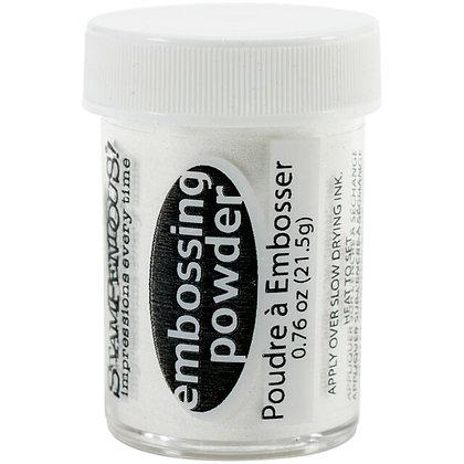 Embossing powder White opaque - Polvo de embossing