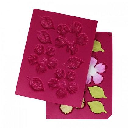Texturador - Large  3d Wild Rose Shaping mold