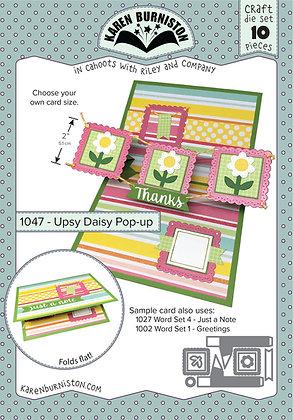 Upsy Daisy  pop-up - Sistema de troqueles para tarjeta con margaritas