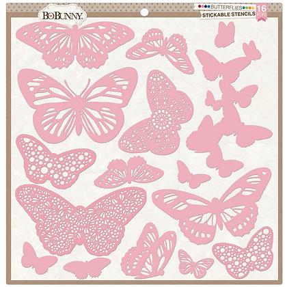 Butterflies Stickable Stencils