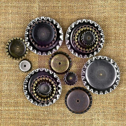 Vintage Trinkets Bottle Caps- Chapas de botella de metal