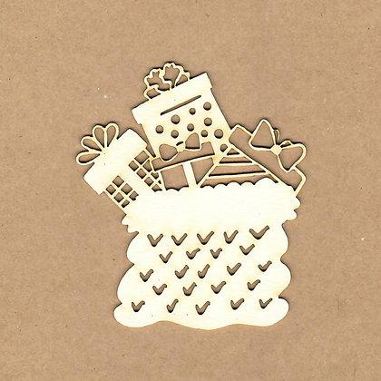 Chipboard - Saco de regalos