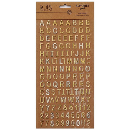 Alfabeto puffy - Oro