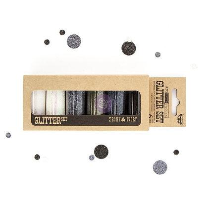 Art ingredients - Glitter set - Ebony & Ivory