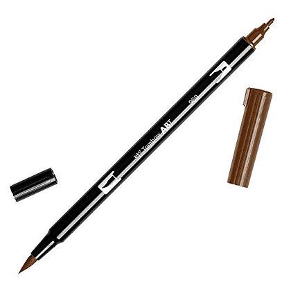 Tombow dual brush pen Chocolate - Marcador de doble punta