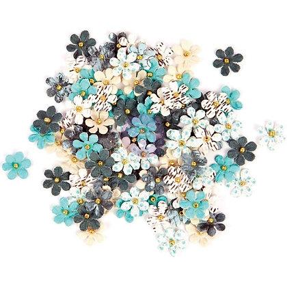 Traveler's journal - Blue crush - Flores de papel