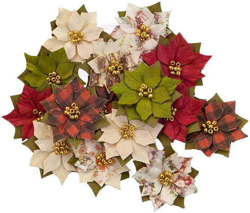 Christmas in The Country - Winter Wonderland - Flores de papel