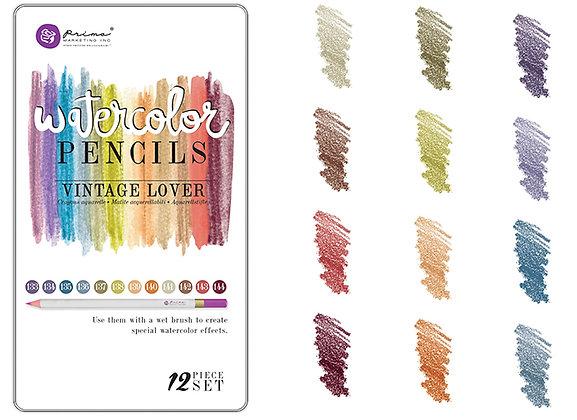 Watercolor pencils Vintage lover - Lápices acuarelables