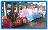 How to remove graffiti from 2 pac paint. How to remove spraycan paint from this bus.