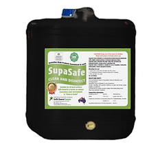 SupaSafe Clean and Disinfect. Cleaner and Disinfectant.