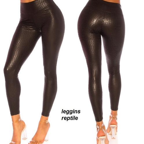 LEGGINS REPTILE COLOR NEGRO TALLA L