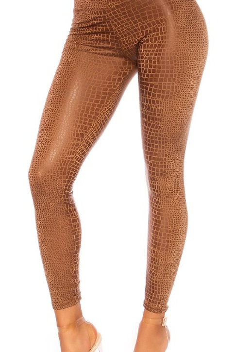 LEGGINS REPTILE  MARRON S -M