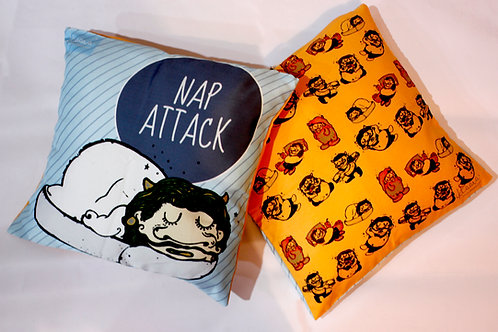 NAP ATTACK Double sided Cushion cover