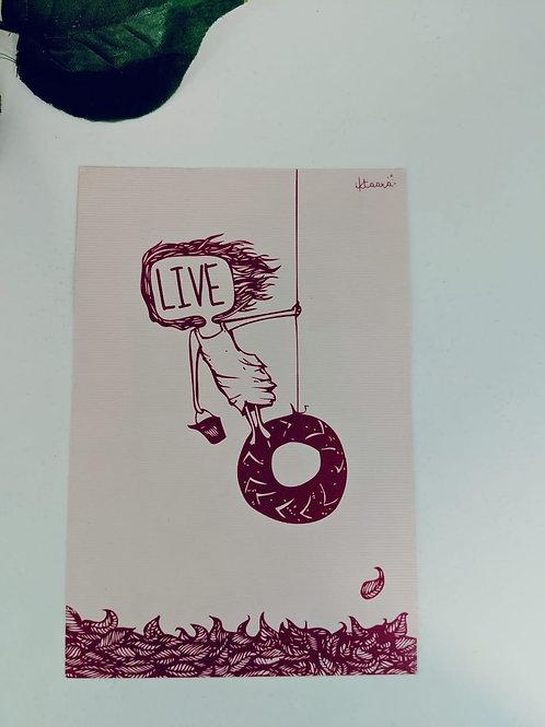 LIVE - Cream Post cards