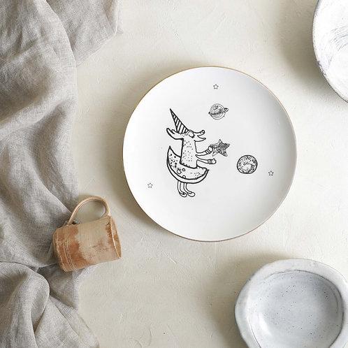 Starry Deer Dinner Plate