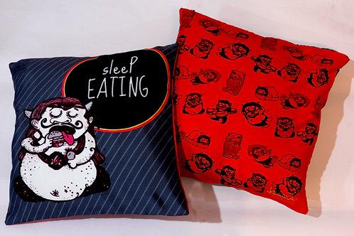 SLEEP EATING - Double sided Cushion cover