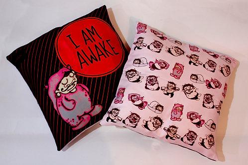 I AM AWAKE - Double sided Cushion cover