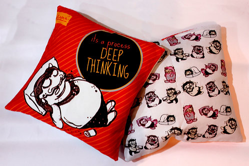 DEEP THINKING - Double sided Cushion cover