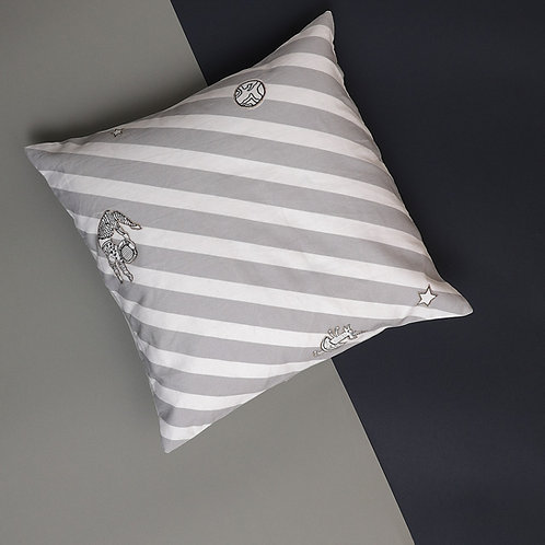 Stripey's Realm World Cushion Cover