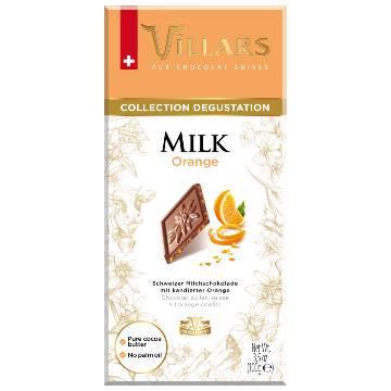 Villars Milk Chocolate with Crystallised Orange Peel 100g