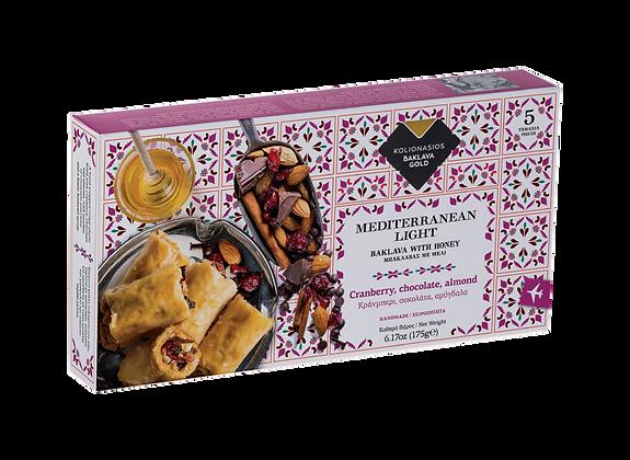 Kolionasios Cranberry Chocolate and Almond Baklava 5 pieces