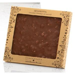 Antica Gianduja Chocolate Square with Whole Roasted Hazelnuts 170g