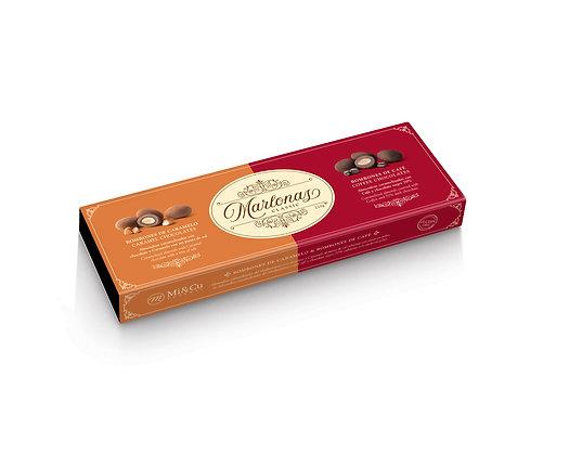 Mi Cu Marlonas Chocolate Coated Almonds - Caramel and Coffee 220g