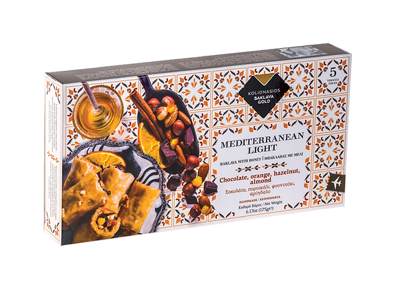 Kolionasios Chocolate Orange Hazelnut and Almond Baklava 5 pieces