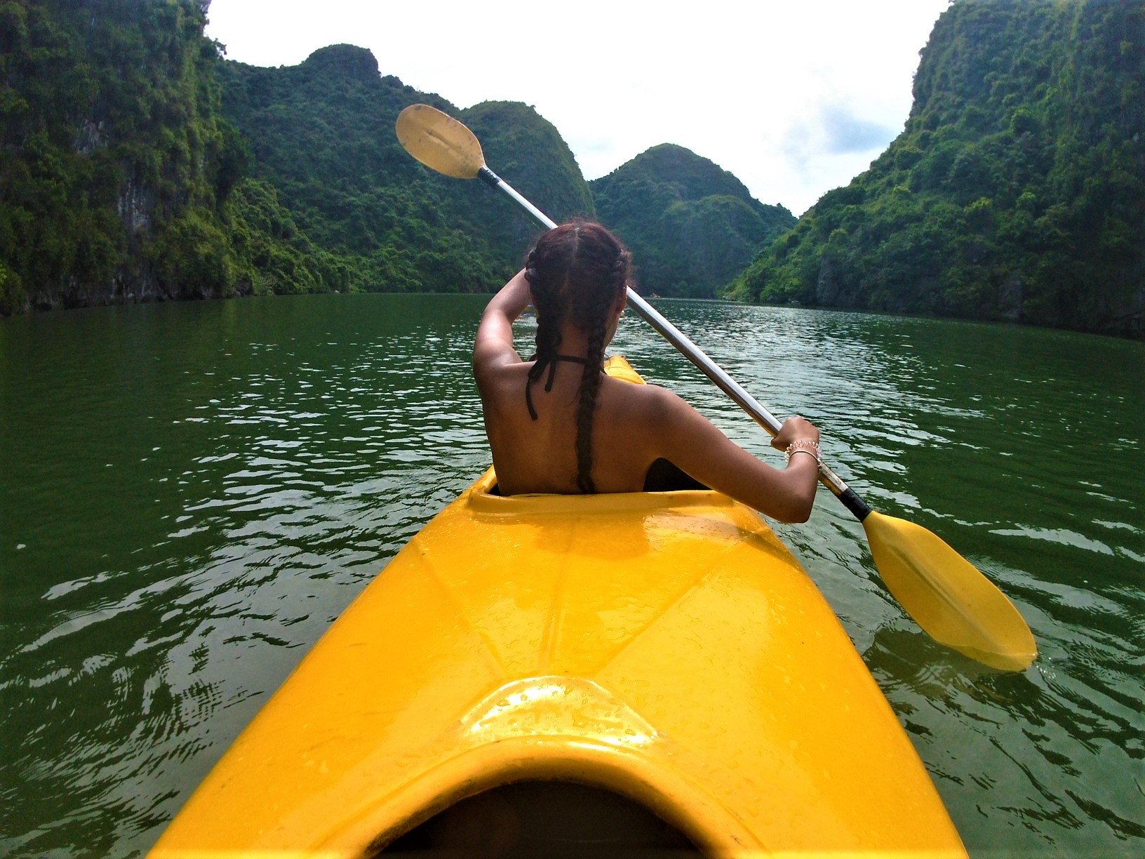 Kayak on Ha Long Bay