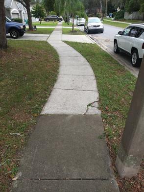 Pressure Wash Sidewalks
