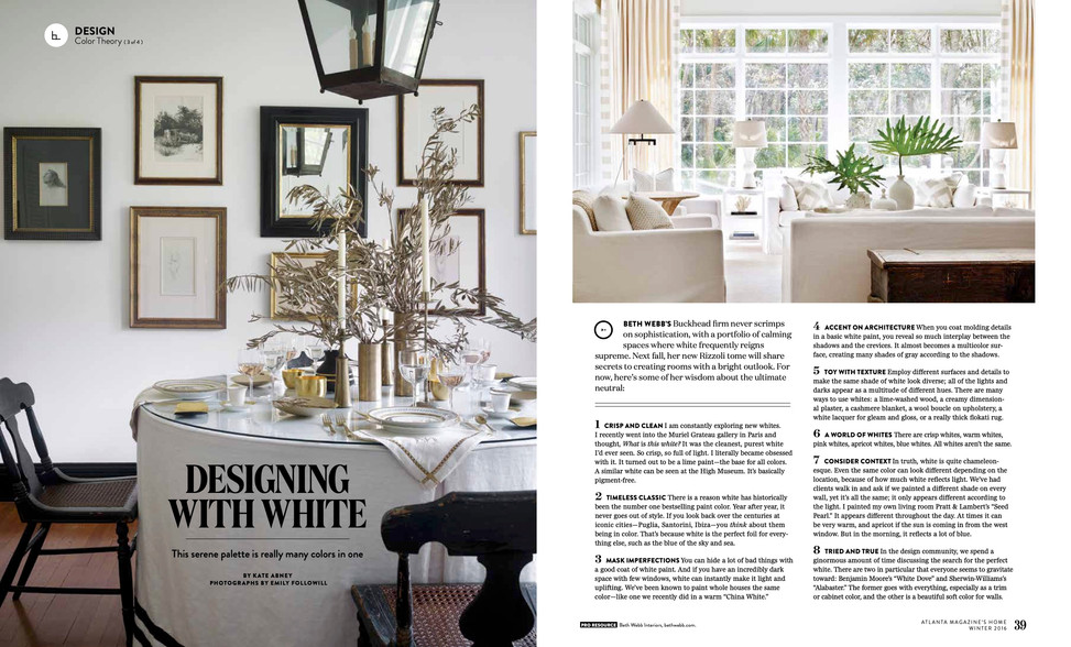 Designing with white