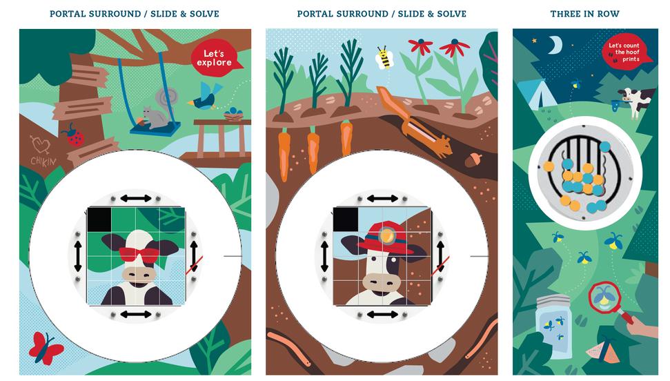 Kids Illustration style - Playground panels