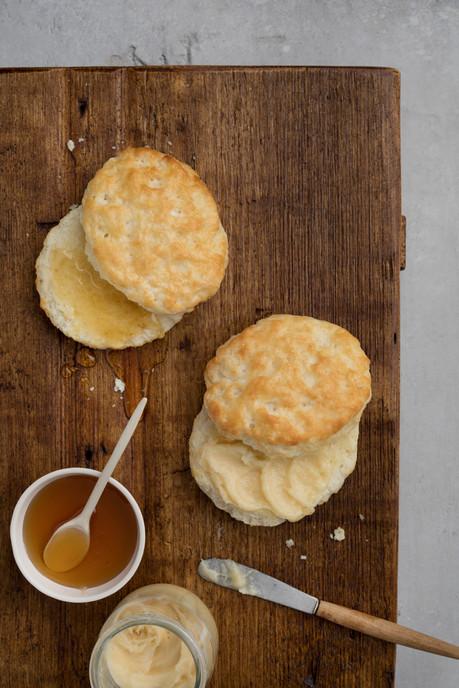 Biscuits, honey