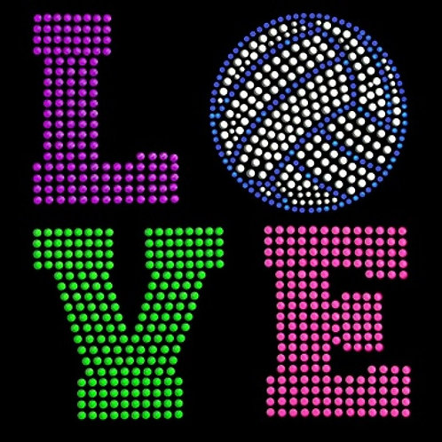 Love Neon Rhinestuds