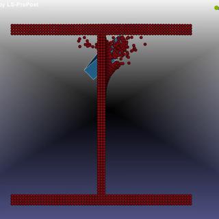 Block impact on a beam