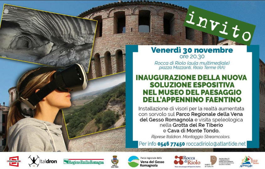 New 3D viewers at the Riolo fortress for a new experience through the gypsum vein.