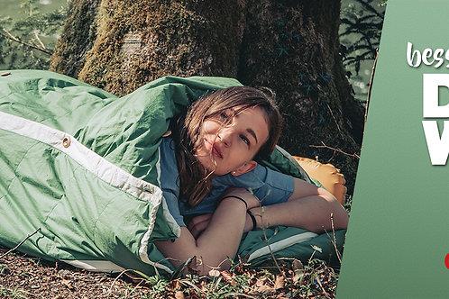 1830 - Banner besserer Schlaf DANK WOLLE im Schlafsack