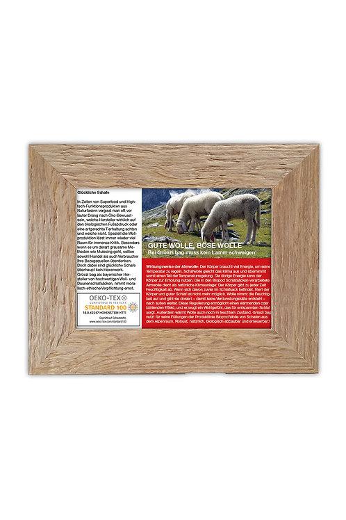 "Holzbilderrahmen 34 x 28cm ""Wolle als Isolationsmaterial"""