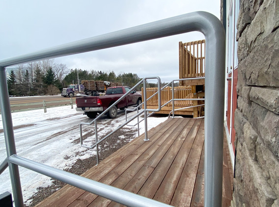 Accessible continuous handrails