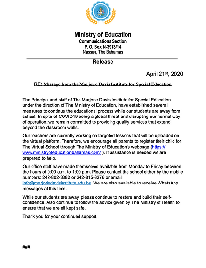 Press_release_Message from the Marjorie