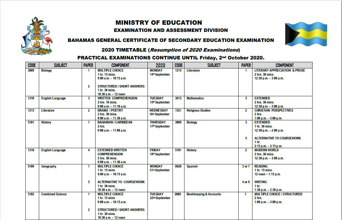 2020 RESUMED Bgcse Exam Timetable_1.JPG