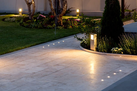 marble tile playground in the backyard o