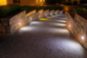 Night lighting path for walks in the hot